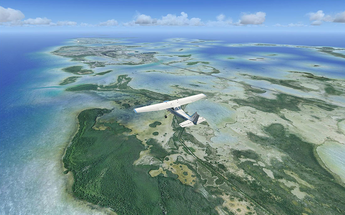 ... key the u s naval air station field on boca chica key can be seen